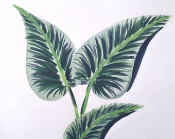 Tropical Greens Painting