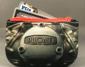 Ducati credit card zipper wallet, coin purse