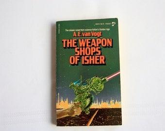 The Weapon Shops of Isher A. E. van Vogt, Vintage Science Fiction Book, Vintage Sci Fi