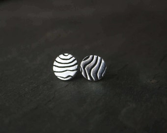 vermont topography textured silver pmc studs
