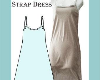 Sewing Pattern: Strap dress, mini length