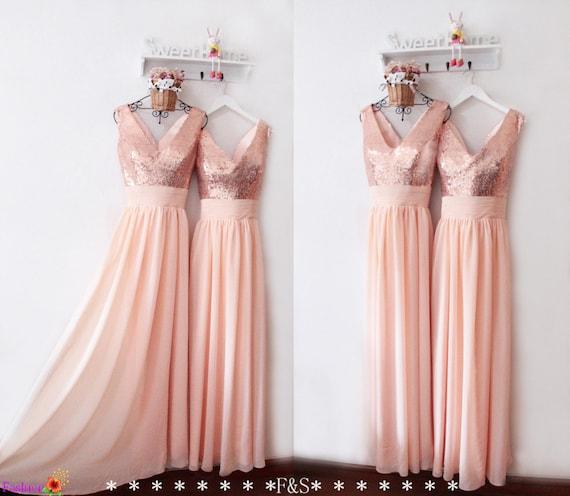 Peach Bridesmaid Dresses