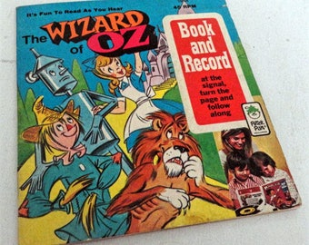 The Wizard of Oz Book and Record by Peter Pan Records