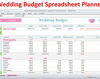 Wedding Planner Budget Template Excel Spreadsheet - Wedding Budget Breakdown - Wedding Budget Organizer Expenses Tracker - Digital Download