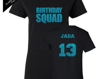 Birthday Squad Shirt Impact - Personalize the Name, Age and Colors - Birthday Party Matching Shirts