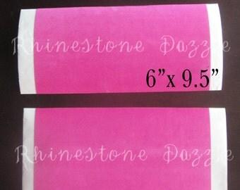 Rhinestone Sticky Flock Template Material, Rhinestone Sticky Stencil Material, Pink Sticky Flock