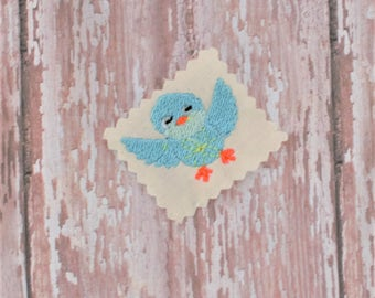 Blue Bird Embroidery Pattern - Embroidery Pattern - Embroidery File - Machine Embroidery Design - Bird Embroidery Design