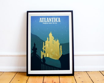 Atlantica - Little Mermaid - Disney Travel Poster - Poster Print - Disney Art - Wall Art Poster Print (Available In Many Sizes)