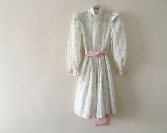 Vintage Sheer Prairie OverDress - Size 6 girls