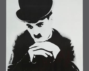 Vintage 1981 Charlie Chaplin Poster Portal Publications Hollywood Actor Film Star 20 x 28