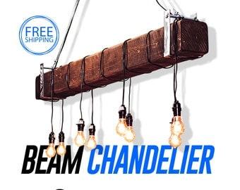 edison bulbs chandelierbeamwood beamhandmadedark walnutrusticbarn woodbeam light rustic chandelier chandelier barn board