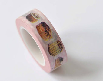 Cookie Cake Snack Food Washi Tape 15mm Wide x 10m Roll No.12477