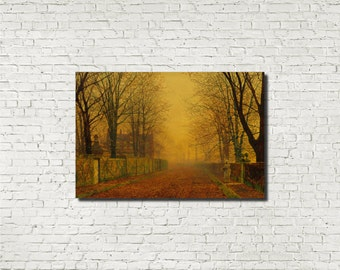 Fine Art Prints, John Atkinson Grimshaw, Old Masters : Evening Glow, Classical Art Iconic Landscape