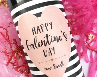 Galentines Wine Labels Valentines Day Gift for Her Valentine's Day Gift Tags Gift for Friend Galentines Day Card Kate Spade Inspired