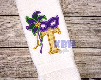 Mardi Gras Embroidered Hand Towel