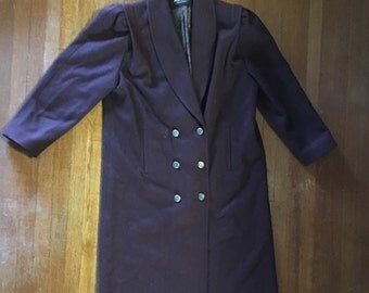 Purple Wool Coat Vintage Jofeld by Forstmann