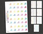 Swimming Icons -  Planner Stickers  - Repositionable Matte Vinyl to suit all planners