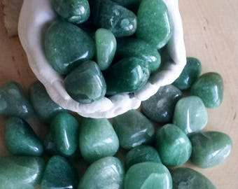 Green Aventurine, 3 Tumbled Aventurine Stones, Aventurine, Healing Crystals, Tumbled Gemstone, Metaphysical Crystals, Witchcraft,Wicca,Witch