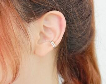 Cartilage earring, ear cuff no piercing, Simple ear cuff, Sold as one