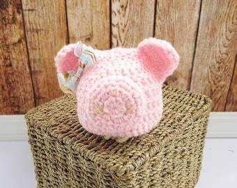 Little Piggy Hat, Newborn to Adult Sizes