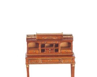 1 12 Famous Fancy Wooton Walnut Secretary Desk W Chair