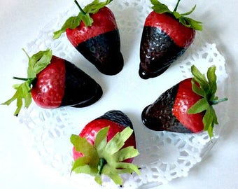 Chocolate covered Strawberries - Fake Food that Looks and Smells Real!