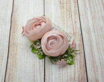 Flower hair comb Wedding flower comb Gift for her Wedding floral hair comb Bridal hair comb Birthday gift Dusty rose Bridesmaid hair comb