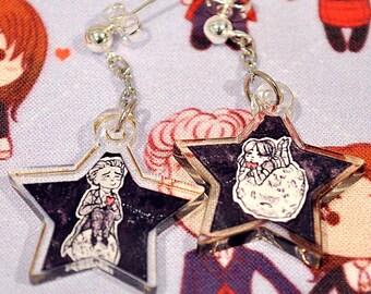 "Hearts In Hands - 12/Clara 1"" Double Sided Acrylic Earrings"