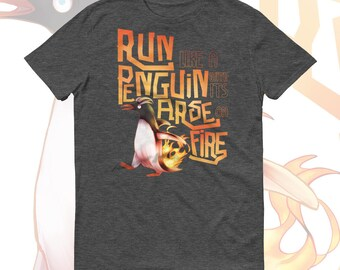 Penguin With Its Arse On Fire - 12th Doctor Inspired T-Shirt