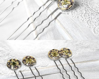 Wedding accessory for hair jewelry for women Bridal hair pins gift for girlfriend Flower gift for wife Flower hair stick Flower hair picks