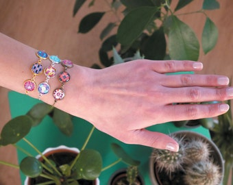 Bracelet - 32 sets of patterns to choose from-Bronze, gold or silver. Remember to read the description!