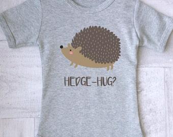 Hedgehog baby clothes. Baby Animal bodysuit. Funny baby clothes with hedgehog print. Modern baby clothes.