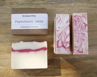 Peppermint soap - with menthol / handmade - natural / soap with mint scent / peppermint scented soap / all natural artisan christmas soap