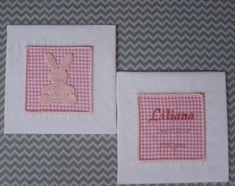 Applique   Machine  Embroidery  Design   Baby   Instant Download Infant  Cute  Quilt Blocks Bunnies