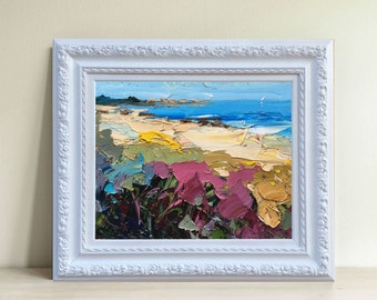 Beach Painting Abstract Painting Oil Painting Beach Art Ocean Painting Original Painting Seascape Painting Modern Painting Beach Home Decor