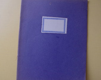 Vintage French Notebook - Exercise Book - Blank and Unused
