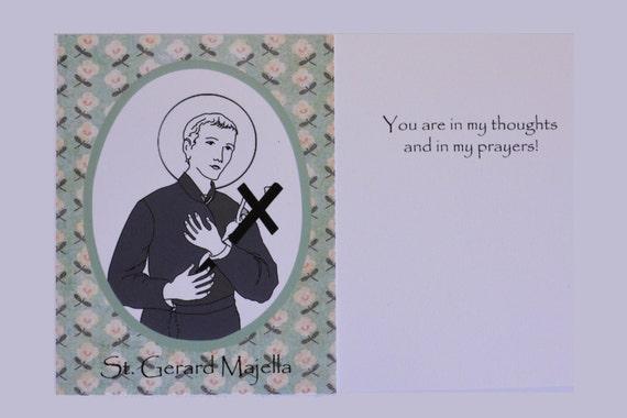 St Gerard Majella Confirmation Card Catholic