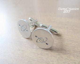 Kayak Cufflinks - Silver Cufflinks - Stamped Cuff Links - Wedding Party Gifts - Kayak Wedding - Wedding Cufflinks - Groom Cuffs