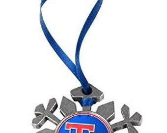 Louisiana Tech Bulldogs Snowflake Ornament