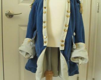 Boy's Hamilton Jacket; George Washington Jacket; 18th Century Military Jacket; Blue Coat; Revolutionary War; Reenactment Costume; American