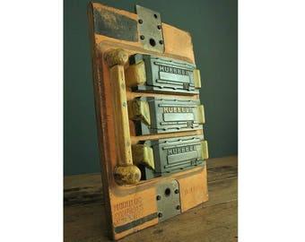 Large vintage engineering mould, submarine / defense parts. .  Decorative Industrial antique.