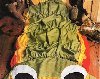 caterpillar sleeping bag sewing pattern PDF graph / grid pattern childrens sleeping bag 180x70cm pdf instant download