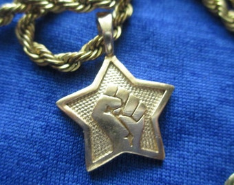 Solidarity Workers Unite Fist Charm