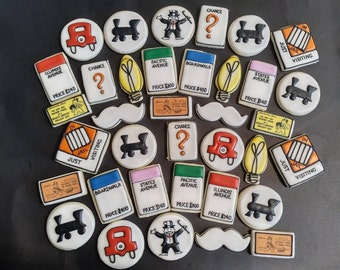 Monopoly Cookies- Free Parking- Get Out Of Jail- Monopoly Man and more!