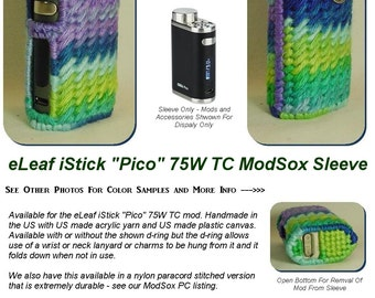"eLeaf iStick 75W TC Pico ""ModSox"" Sleeve wrap case holder holster pouch glove cover custom handmade"