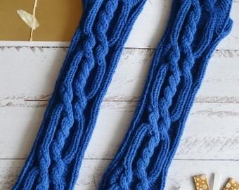 Fingerless gloves best friend gifts long arm warmers Long knit gloves Knit fingerless gloves Wool gloves Cable knit gloves Outlander gloves