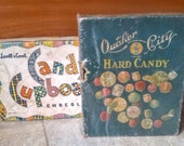 RESERVED for Chelsea* Vintage Candy Boxes Lot of 2 Quaker City Lovell & Covel