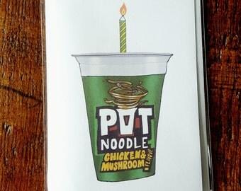 Pot Noodle Birthday Card