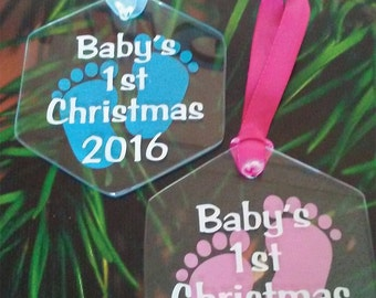 Baby's First Christmas Footprints