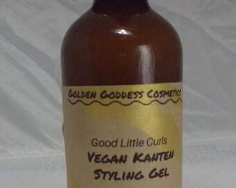 Curl Defining Gel: Good Little Curls Vegan Kanten Styling Gel for Longer, Stronger, More Defined Curls